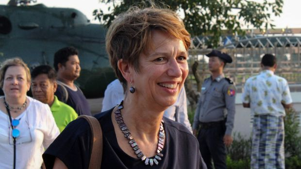 "UN special envoy for Myanmar Christine Schraner Burgener. ""A bloodbath is imminent."" Photograph: AFP via Getty Images"