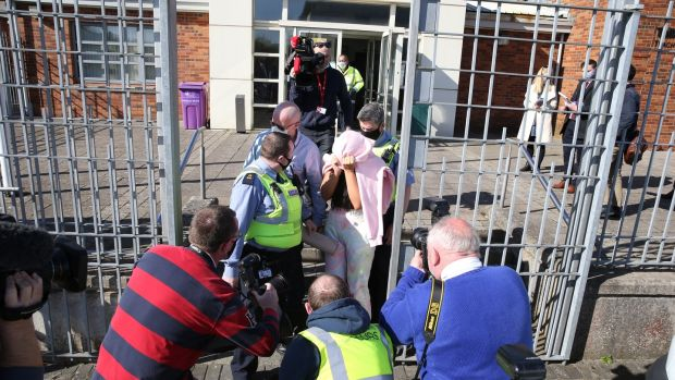 Niamh Mulreany leaving Tallaght District Court on Saturday afternoon. Photograph: Collins Court.
