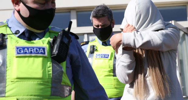 Kirstie McGrath leaving Tallaght District Court on Saturday afternoon. Photograph: Collins Court.