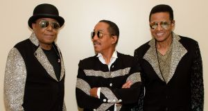 Tito, Marlon and Jackie Jackson: 'Do we miss having hit records? Of course. Everyone does'. Photograph: Marcus Ingram/ABA/Getty