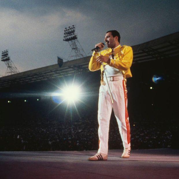 Freddie Mercury.  Fotografía: Dave Hogan / Getty