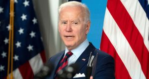 US President Joe Biden's broader goal is to  end what officials have described as a race-to-the-bottom on global taxation. Photograph: Leigh Vogel/Pool/EPA