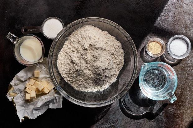 Flour high in protein is essential when making the croissant dough. Food Stylist: Laurie Ellen Pellicano. Photograph: Johnny Miller/The New York Times