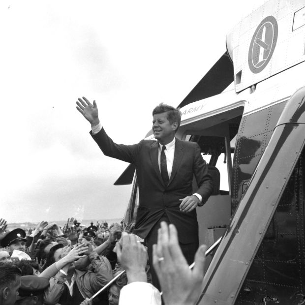 John F Kennedy leaves Galway on his visit to Ireland in 1963