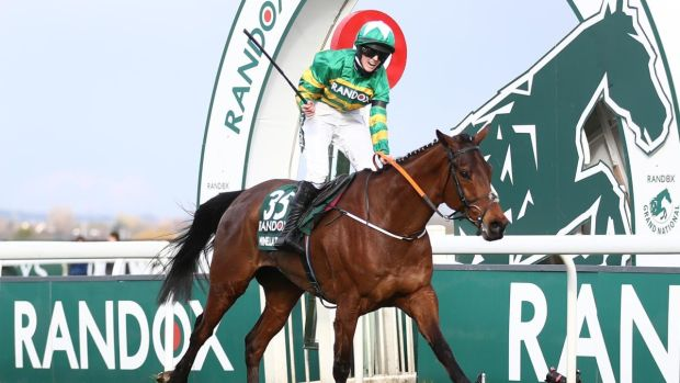 Minella Times ridden by Rachael Blackmore win the Randox Grand National at Aintree. Photograph: Tim Goode/PA Wire