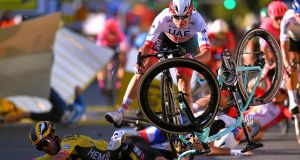 Fabio Jakobsen has returned to cycling eight months after a horror crash in Poland. Photograph: Getty