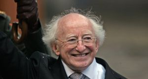 Michael D Higgins, the ninth president of Ireland, following his inauguration ceremony in Dublin Castle on November 11th, 2011. Photograph: Eric Luke