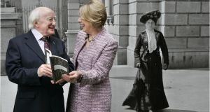 Michael D and Sabina Higgins at the launch of  his book New & Selected Poems  at the National Library in July 2011. Photographer: Dara Mac Dónaill