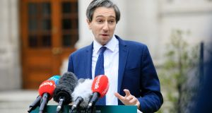 Minister for Higher Education Simon Harris is working on a plan  to ensure the cost of mandatory hotel quarantine for students returning to Ireland from Erasmus can be covered for students. Photograph: Gareth Chaney/Collins