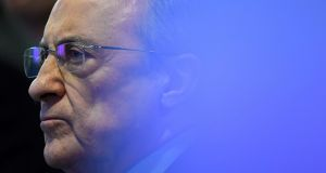 Florentino Perez, the only candidate for the club's presidency, was reelected for a sixth term. Photograph: Getty Images
