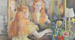One of Frances Kelly's paintings, a portrait of her daughter Eavan Boland as a young girl. It features in the poster for Druid's Boland: Journey of a Poet.