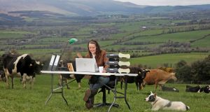 Dairy entrepreneur Maighread Barron on her Co Waterford farm launching Ifac's annual farm report.