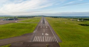 Management at Cork Airport had originally planned to complete the runway project  by night over a nine-month period in 2022 and 2023. Photograph: Cork Airport