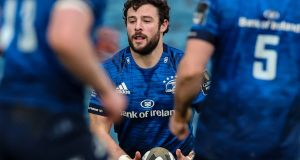 Robbie Henshaw is one of four Leinster players to be nominated for the EPCR European Player of the Year 2021 award. File photograph: Inpho