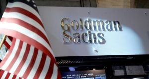 A view of the Goldman Sachs stall on the floor of the New York Stock Exchange.  Photograph: REUTERS/Brendan McDermid/File Photo