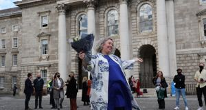 Trinity College Dublin's first female provost Prof Linda Doyle: Men are likely to produce more publications and have higher citations and more research funding – partly because they are men in male-dominated institutions. Photograph: Nick Bradshaw