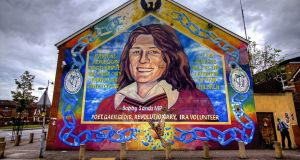 Bobby Sands died in prison on the sixty-sixth day of his hunger strike at Long Kesh, outside Belfast, on 5 May 1981.  Photograph: Getty
