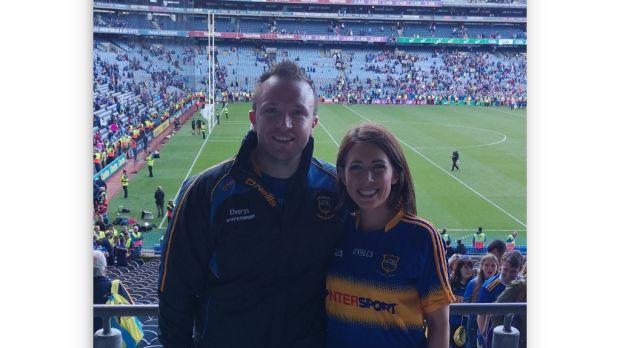 Ciara O'Meara with her fiancé Dave