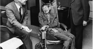 Prof Stephen Hawking in 1983. Photograph: Peter Thursfield