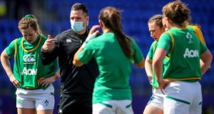 Ireland head coach Adam Griggs believes his team are improving despite heavy defeat to France. Photograph: Inpho