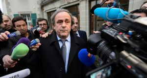 Michel Platini, the former Uefa president, first revealed his plans for a pan-European tournament in June 2012. But Dublin no longer looks set to benefit as a host venue. Photograph: EPA