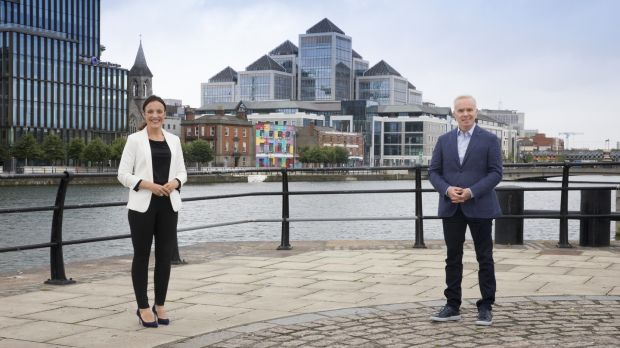 Ella McSweeney and Richard Curran, hosts of Open for Business