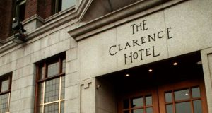 The Clarence Hotel on Wellington Quay in Dublin. Photograph: Pat Langan