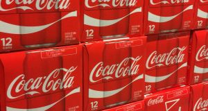 Coca-Cola said increased vaccine availability was boosting sales in some markets. Photograph:  Karen Bleier/AFP