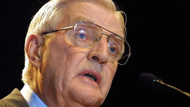 Walter Mondale pictured in 2002 at the State Theatre in Minneapolis, Minnesota. Photograph: Bill Alkofer/AFP via Getty Images