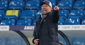 Jurgen Klopp has criticised the European Super League plan being pursued by his own employers at Liverpool. Photograph: EPA