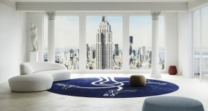 When Irish wool meets NYC: Rhyme Studio's architectural visualisation, featuring the limited edition Fado Fado rug.