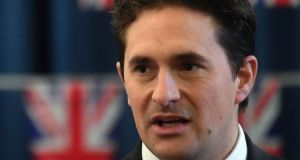 Former UK veterans minister Johnny Mercer. File photograph: Kirsty O'Connor/PA