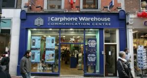 Carphone Warehouse staff have been informed of the decision, which had been expected in recent days. File photograph: The Irish Times