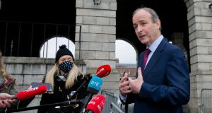 Taoiseach Micheál Martin, pictured on Tuesday at  Dublin Castle,  said the Government would make a comprehensive statement next week on what might happen in May, and for some other sectors in June.  Photograph: Gareth Chaney/Collins