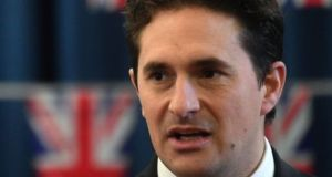 Former UK veterans minister Johnny Mercer. File photograph: Kirsty O'Connor/ PA