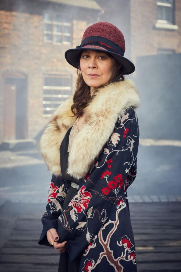Helen McCrory as Polly Gray in the BBC series Peaky Blinders.