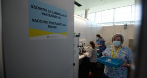 The HSE Vaccination Centre at the Aviva Stadium, Dublin. Photograph: Alan Betson
