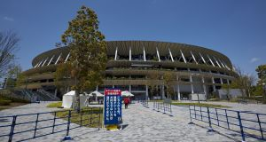A view of the New National Stadium, the main stadium for the Tokyo Olympics. The Japanese government is expected to impose a third state of emergency in Tokyo soon amid an increase in cases of Covid-19. Photo: Getty Images