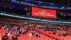 4,000 local fans were permitted to attend the FA Cup semi-final between Leicester and Southampton at Wembley on Sunday. Photo: Richard Heathcote/Getty Images