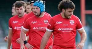 Jersey Reds and Nottingham will be the first English rugby teams to play in front of supporters this year when they meet at Stade Santander International Stadium on Saturday.