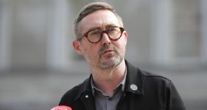 "Sinn Féin housing spokesman, Eoin O Broin, sais  slide in the training material suggesting people can be tagged as a ""social media engager"" was not correct. Photograph:Gareth Chaney/Collins Photos"
