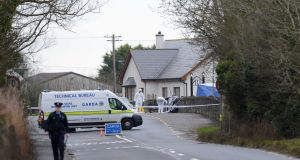 The scene of the fatal shooting of Det Adrian Donohoe in Co Louth. Photograph: Dara Mac Dónaill