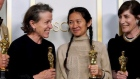 Nomadland scoops best picture prize at Covid-safe Oscars