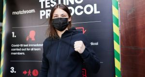 Katie Taylor is preparing for Saturday's lightweight clash against Natasha Jonas, nine years on from their meeting at the 2012 Olympic Games in London. Photograph:  Mark Robinson/Inpho/Matchroom Boxing
