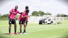 Snappy midfielder: alligator invades Toronto FC training session