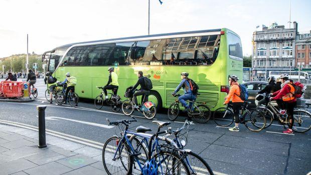 Cyclists in Dublin city centre. Photograph: iStock
