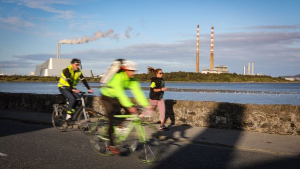 Cyclists on Strand Road, Sandymount, Dublin, where Dublin City Council is planning a controversial cycleway. Photograph: Crispin Rodwell for the Irish Times