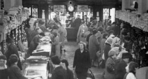 Clery's interior: From 1946 when the rationing eased, there was a consumer boom as people bought the things that they had missed out on over the previous six years.