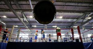 An IABA elite training session at the  Sport Ireland Institute at  Abbotstown. Photograph: Tommy Dickson/Inpho