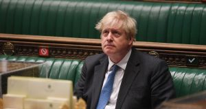 "Britain's prime minister Boris Johnson:  ""I don't think there's anything to see here or to worry about,"" he told reporters on Thursday. Photograph: Jessica Taylor/UK Parliament/AFP via Getty Images"